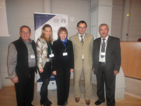 "from left to right: Leo M. Tonkin Co-Founder of the Salt Therapy Association (USA), CEO of Leo M. Tonkin, LLC Strategic/Organizational Consultancy, Ülle Pukk, Co-Founder of the Salt Therapy Association (USA), Prof. Alina V. Chervinskaya MD, PhD, Professor of Chair of Restorative Medicine, Sport Medicine, Balneology and Physiotherapy of Institute of Post-Degree Professional Education (Moscow), Institute of Respiratory Hygiene and Halotherapy (Hungary), Jacub Czerwinski, Director of the ""Wieliczka"" Salt Mine Health Resort (Poland), Iuri Simionca Dr., Ph.D. President of Permanent Commission on Speleotherapy (PCS) / Commission permanente de spéléothérapie (CPS) (Romania)"