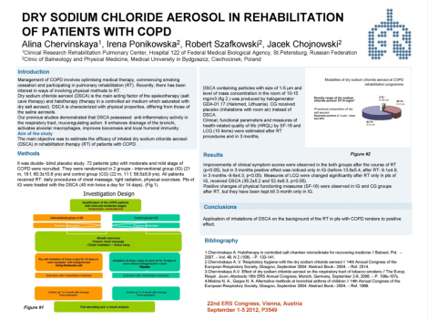 Dry Sodium Chloride Aerosol in Rehabilitation of Patients with COPD - E-poster
