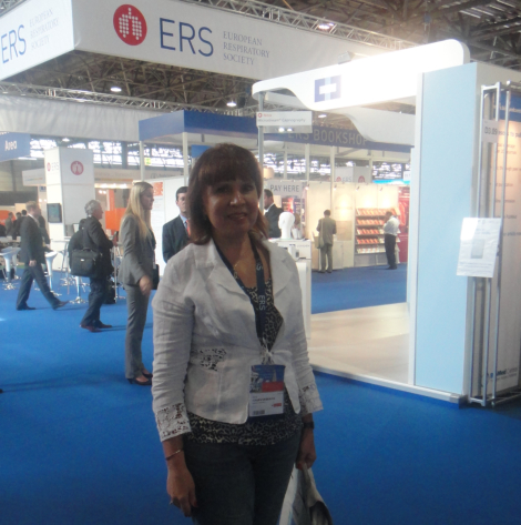 Prof. Chervinskaya at 22nd ERS Congress Exhibition