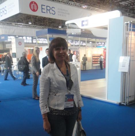 Prof. Chervinskaya at 22nd ERS Congress Exhibition